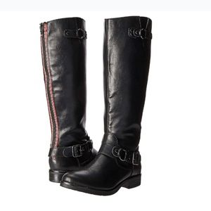 Tall / High Black Riding Boots  Zipper